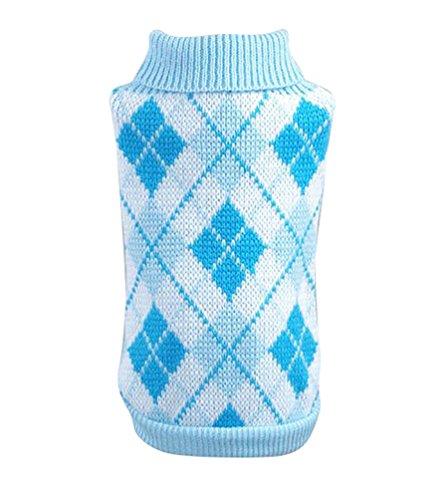 YiJee Haustier Hund Katze Warme Pullover Kleidung Kleine Mantel Teile Licht Blau XS