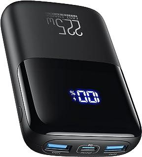 INIU Powerbank, 22.5W PD 3.0 QC4.0 LED Display 10000mAh Tragbares Schnellladegerät, Externer Akku mit Handyhalterung für i...