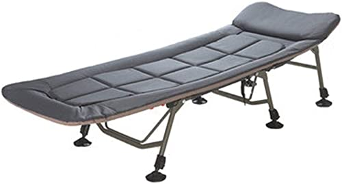 Lit De Camp,Lit De Camp Pliant Simple Le Dossier A 5 Angles pour Ajuster Capacité De Charge 150kg Taille 200cm