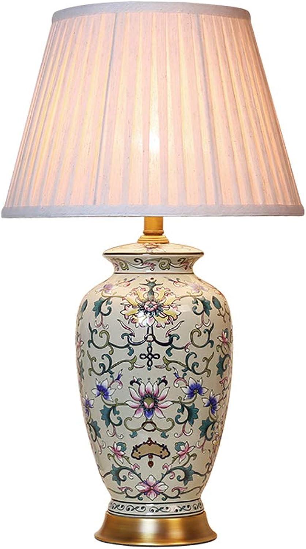 SLH SLH SLH American Country Kreative Hochzeit Tischlampe Schlafzimmer Nachttischlampe Wohnzimmer Tischlampe Studie Tischlampe B07JZYRRFS | Authentisch  caf311