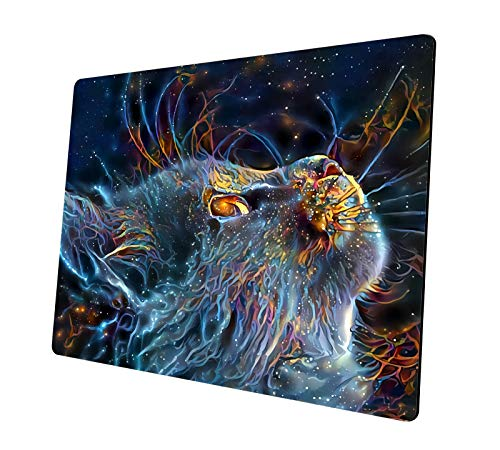 Gaming Mouse Pad, Starry Sky Cat Design Rectangle Non-Slip Rubber Mouse Pads Personalized Design Mousepad, for Computers Laptop, Gaming,Office,Home