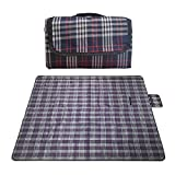RealPero Large Outdoor Waterproof Picnic Blanket Foldable Handy Tote Bag Compact Plaid Washable Sand Proof Mat for Beach Travel Camping on Grass 6070' (Color 3)