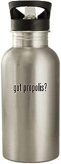 got propolis? - 20oz Stainless Steel Water Bottle, Silver