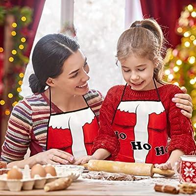TRIXES Father Christmas Ho Ho Ho Novelty Apron Santa Suit Design Stocking Filler Fancy Dress