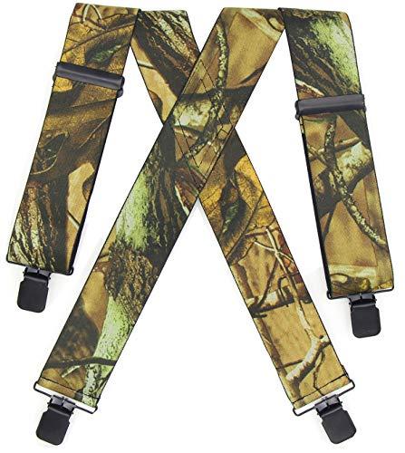 Camo Suspenders for men Heavy Duty Hunting Tactical Dress Wear Elastic...