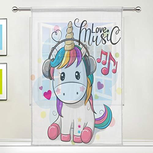 cortinas habitacion unicornio