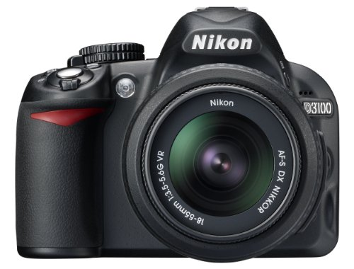 Nikon D3100 SLR-Digitalkamera (14 Megapixel, Live View, Full-HD-Videofunktion) Kit inkl. AF-S DX 18-105 VR Objektiv