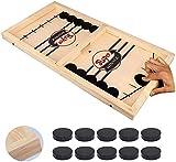 moopok Fast Sling Puck Game,Slingshot Games Toy,Table Desktop Battle 2 in 1 Ice Hockey Game, Winner Board...