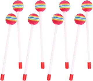 Perfeclan 8x Percussion Hand Drum Mallets Lollipop Head For Kids