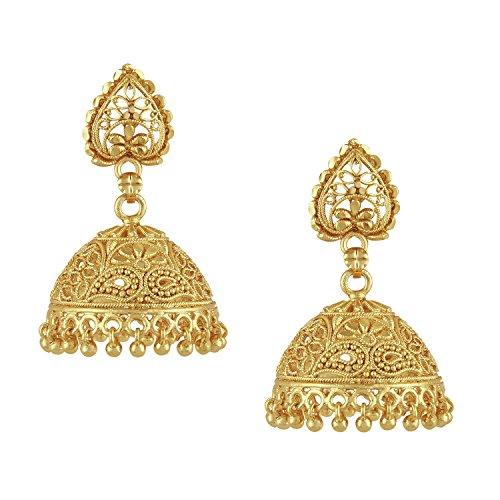 Bodha 18k Gold Plated Traditional Indian Jhumka Earrings (SJ_32)