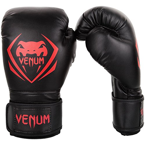 Venum Contender Boxing Gloves - Black/Red - 14-Ounce