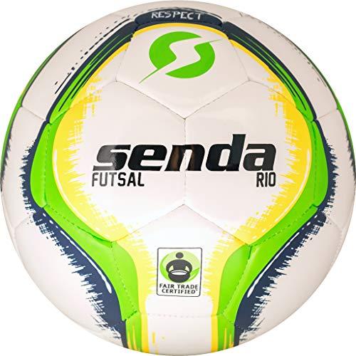 Senda Rio Training Futsal Ball, Fair Trade Certified, Green/Yellow, Size 4 (Ages 13 & Up)