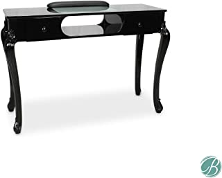 Fiona Manicure Nail Table Station Black (Table Top & Legs) for Beauty Spa Salon