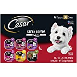 CESAR Soft Wet Dog Food Classic Loaf in Sauce Steak Variety Pack, 7.9 lb