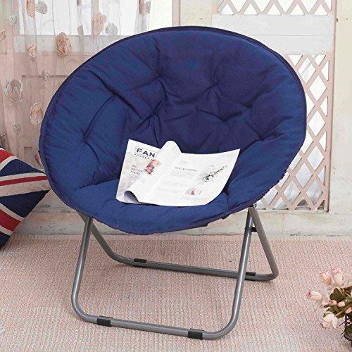Folding chair outdoor folding camping - Large Adult Moon Chair Sun Chair Lazy Chair Radar Chair Recliner Round Chair Sofa Chair (Color : 7)