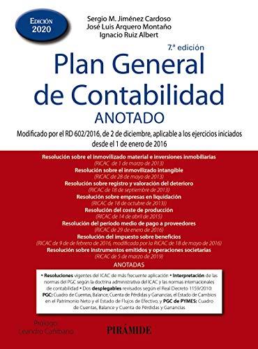 Plan General de Contabilidad ANOTADO: Modificado