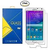 [2 Pack] Protector Cristal Vidrio Templado Samsung Galaxy Note 4 SM-N910 / N910F / N910H / N910C / N9100 / 910 / 910F / 910H / 910C / 9100 – Pantalla Antigolpes y Resistente al Rayado