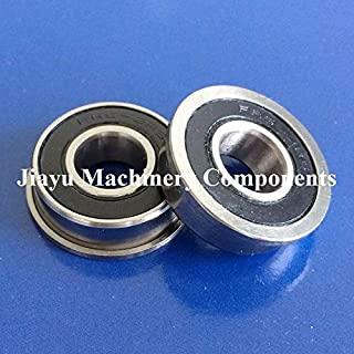 Fevas 50 PCS FR6-2RS Flanged Bearings 3/8 x 7/8 x 9/32 inch Flange Ball Bearings FR6 RS