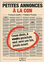 Petit Livre de - Annonces à la con de Frédéric POUHIER