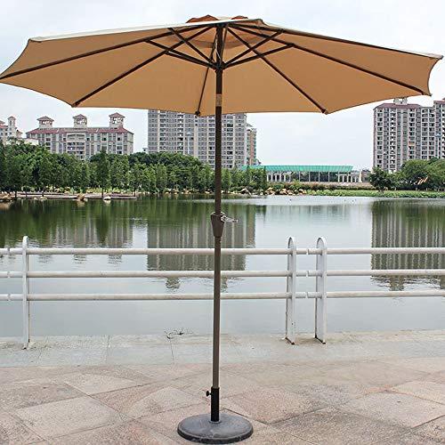 Parasol de jardín, sin Soporte Parasol de jardín Redondo de 2.7M Sombrilla Patio al Aire Libre para Patio con terraza al Aire Libre (Blanco Crema)