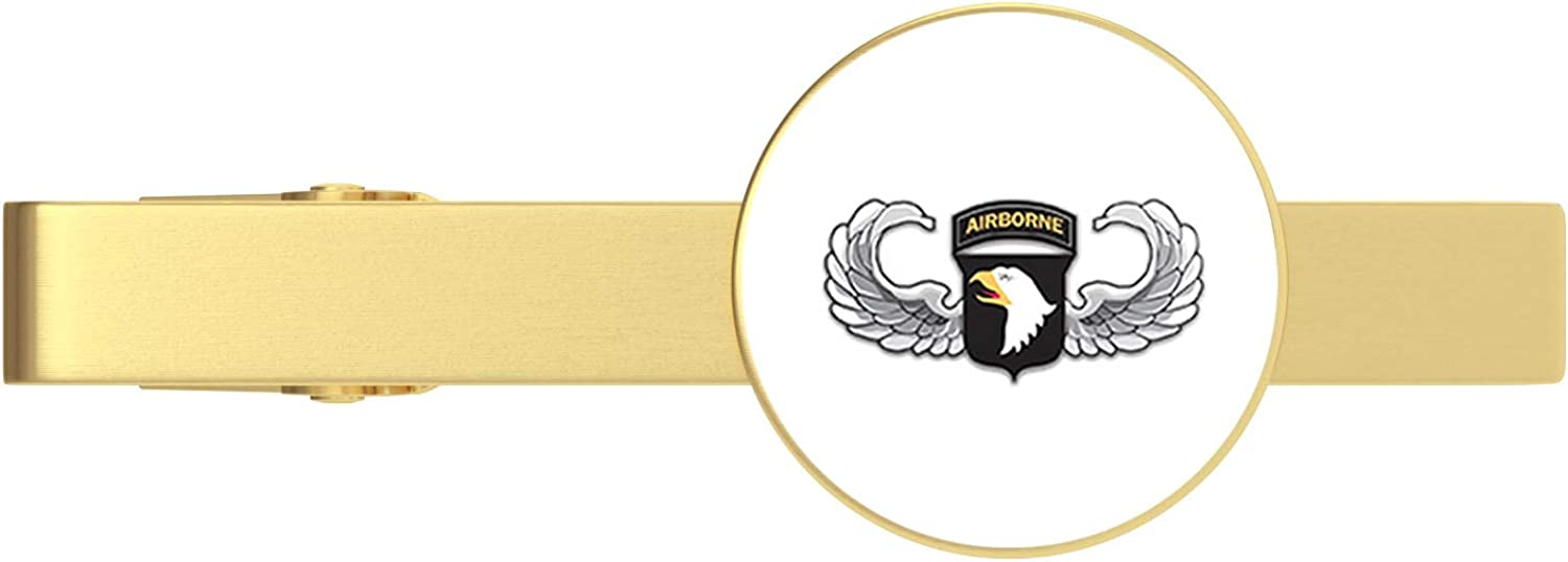 HOF Trading Gold US Army 101st Airborne Jump Wings Gold Tie Clip Tie Bar Veteran Gift