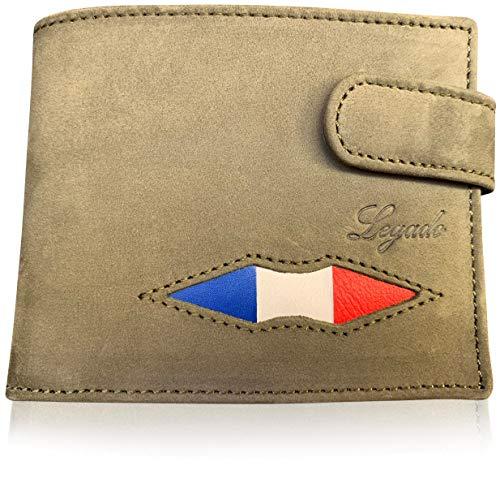 Cartera Caza Hombre Legado Cartera Hombre Bandera Francia para Ropa Caza Hombre, Accesorios Caza y Productos de Caza como articulos de Caza o Chaleco de Caza. (con Cierre)