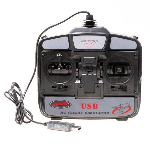 Preisvergleich Produktbild Andoer 6 Kanal USB 3D RC Hubschrauber Flugzeug Flugsimulator