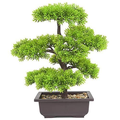 Naliovker Plantas Artificiales Pino Bonsai Peque?O áRbol Plantas en Maceta Flores Falsas Adornos en Macetas para la DecoracióN del Hogar DecoracióN del JardíN del Hotel