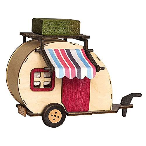 Kuhnert - Holzdekoration - Wohnwagen als...