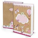 XXL Notizbuch TEDDY-BÄR PFERD rosa-rot pink DIN A4 Kinderbuch Babybuch zum Einschreiben Geschichten aufschreiben Tagebuch Baby Babytagebuch Kindertagebuch 136 blanko Seiten