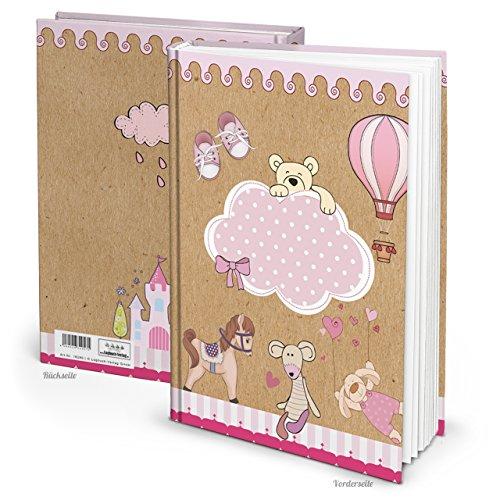 XXL Notizbuch TEDDY-BÄR PFERD rosa-rot pink DIN A4 Kinderbuch Babybuch zum Einschreiben Geschichten aufschreiben Tagebuch Baby Babytagebuch...