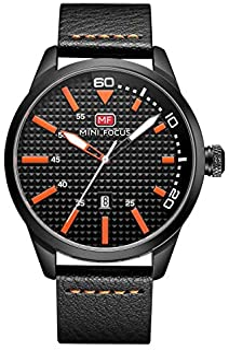 Mini Focus Mens Quartz Watch, Analog Display and Leather Strap - MF0021G.01