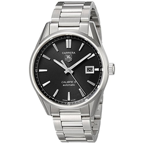 Tag Heuer Men's 39mm Silver Steel Bracelet & Case Date Watch WAR211A.BA0782