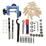 Guía de taladro-Agujero de pasador de madera Kit de plantilla de guía de taladrado Herramienta de posicionamiento de carpintería para carpintería con cortador de agujeros