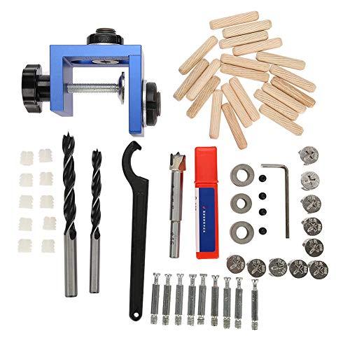 OKBY Hole Locator Wood - Drill Guide Duckel Drilling Kit per La Lavorazione del Legno Strumento di Posizionamento Carpenteria con Taglierina