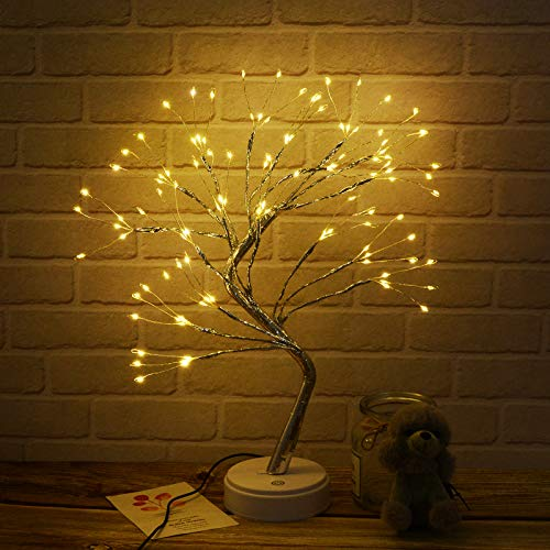 20'' Tabletop Bonsai Tree Light with 108 LED Lights-USB/Battery Touch Switch,Fairy Spirit Light Tree Celtic Serenity, Artificial Lighted Tree Lamp for Living Room,Home Decor Gifts