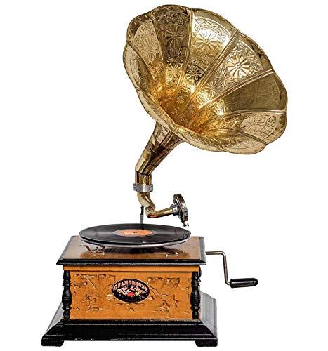 aubaho Nostalgie Grammophon Gramophone Dekoration mit Trichter Grammofon Antik-Stil (h)