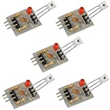iHaospace 5V Laser Recevier Sensor Module Relay Switch for Arduino (Pack of 5)