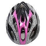 NICEJW Casco da Bici, Universale Bici da Bicicletta MTB Ciclismo Regolabile Protezione della Testa Cappuccio di Sicurezza Cappuccio di Sicurezza Resistente Durevole Rosa