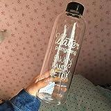 Tianfuheng Bouteille d'eau réutilisable en plastique anti-fuite pour la maison, les voyages, la randonnée, le camping, le sport, Plastique, Enjoy Handa Detox, 1000 ml