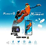 VanTop Moment 3 4K Action Camera w/Gopro Compatible Carrying Case,Remote Control,16MP Sony Sensor,30M Waterproof Camera… 12 【Stunning 4K Technique & Superb Sony Sensor】Optional 4K@30fps, 2.7K@30fps,1080P@60fps,720P@120fps resolutions, high sensitive Sony sensor with improved image focusing, processing speeds. Moment 3 action camera empowers you to capture any memorable moment without any compromise. Stunning 4K video and 16MP photos in Single, Burst and Time Lapse modes. 【Irresistible & Indispensable Accessories】Exclusively customized carrying case for the action camera and accessories: compatible with all Gopro cameras including Gopro HERO 7, Gopro HERO 6. Compact case to keep your action camera-Moment3 and accessories safe, protected and organized. Selected 21 gopro compatible accessories awaits your discovery. (SD Card excluded) 【170°Ultra-Wide Lens & Multiple Modes】Discover a big big world your eyes can reach with the intergraded 170 degrees ultra-wide lens. Burst Shooting, loop recording makes it possible to find the perfect moment afterwards. Time-lapse and slow motion exceed human vision with surprising fun.