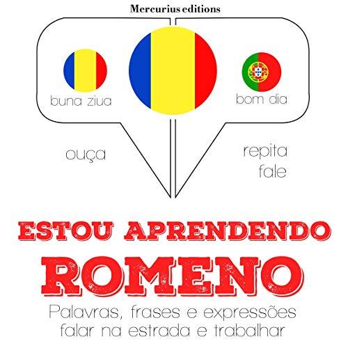 Diseño de la portada del título Estou aprendendo romeno