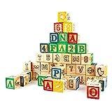 HNaGRDMMP Bausteine für Kleinkinder Bausteine ABC-Blöcke, Spiele, Extra Large 48 PCS Alphabet Block Set Lernspielzeug for Kinder Kleinkinder