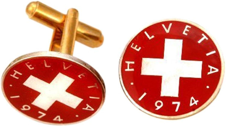 Swiss Red Cross Coin Cufflinks