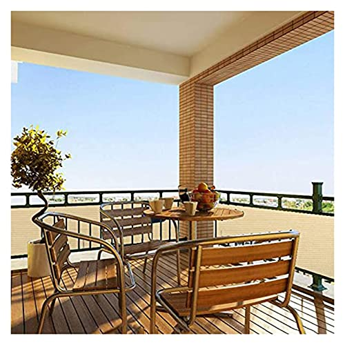 Pantalla para Balcón,Escudo de Privacidad Pantalla de privacidad del balcón con Ojales y Cremalleras Plegable Toldo para Balcón para Patio Porche,Tamaño personalizado ( Color : Beige , Size : 1×2m )