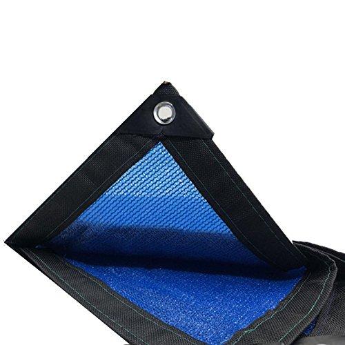 LIFEIYAN Outdoor Sun Shading Net Awning,95% Blue Sunscreen Shade Cloth Patio Outdoor Balcony Shading Net Shade Sail Sunshade net (Color : Blue, Size : 6x6m)