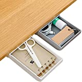 Desk Pencil Drawer Organizer, 2 Pcs Desk Drawer Attachment Set, Desk Accessories and Workspace Organizers for Pens Pencils Stationery