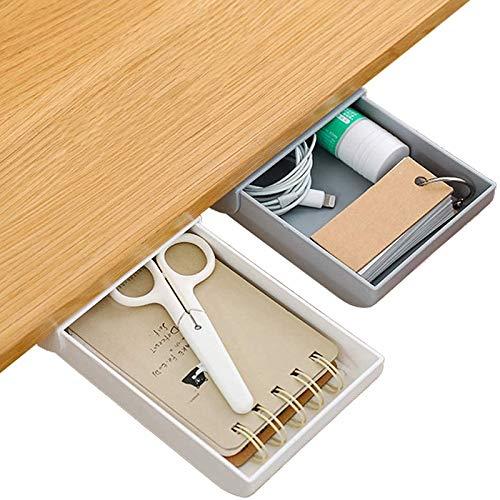 Under Monitor Pen Holder Desk Pencil Drawer Organizer2 Pcs Self-adhesive Desk Drawer Attachment Set Pen Holder for Desk Desk Accessories and Workspace Organizers for Pens Pencils Stationery