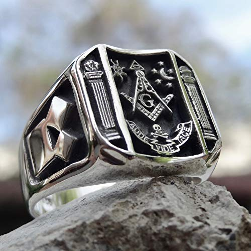 New Masonic Ring Sterling Silver 925 Handmade