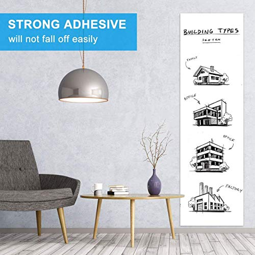 White Board Sticker, Whiteboard Paper, Upgrade PET-No Ghost, 1.45x11ft, Super Sticky, Stain-Proof Dry Erase Film Self Adhesive Wall Paper Roll for Classroom/Office/Kids Painting, 3 Dry Erase Markers Photo #3